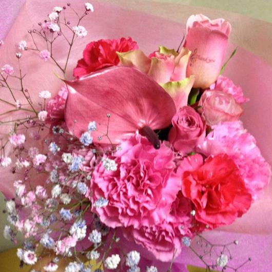 傘寿祝い 花 ストロベリーソーダ